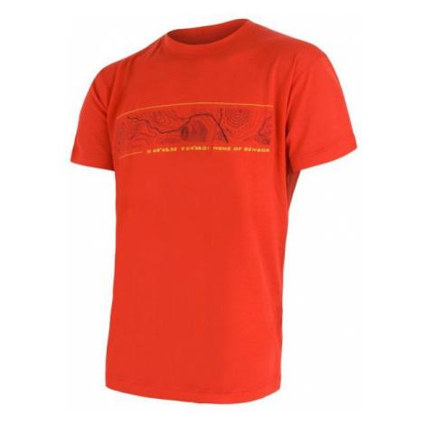 Sensor Merino Active PT GPS pánské tričko krátký rukáv red