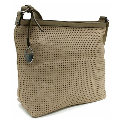 Světle hnědá prostorná dámská kabelka s perforací Ynez Mahel