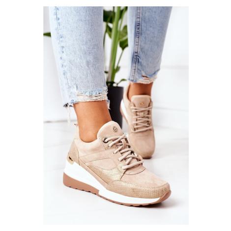 Wedge Sneakers Beige Temida Kesi