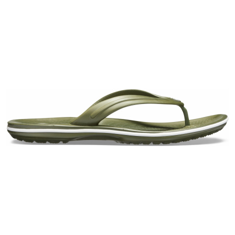 Crocs Crocband Flip Army Green/White