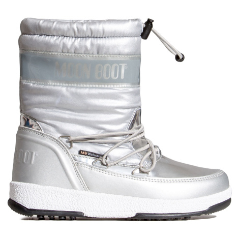 Boty Moon Boot JR GIRL SOFT WP stříbrná