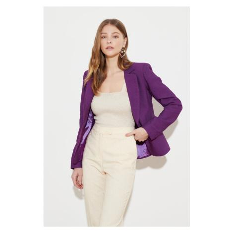 Trendyol Purple Button Detailed Jacket