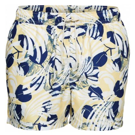 Žluté šortkové plavky Classic Aop Swimshorts Selected