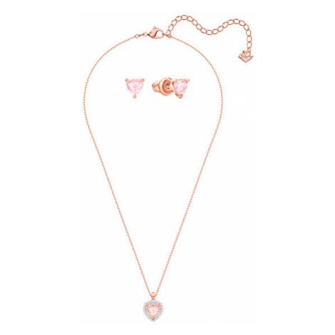 Swarovski Romantická sada šperků s krystaly Swarovski One (náhrdelník, náušnice)