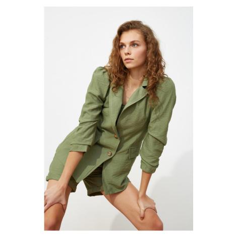 Trendyol Mint Button Detail Jacket
