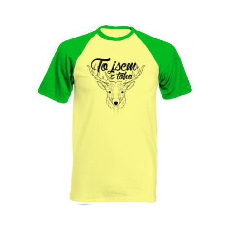 Pánské tričko Baseball To jsem z toho jelen