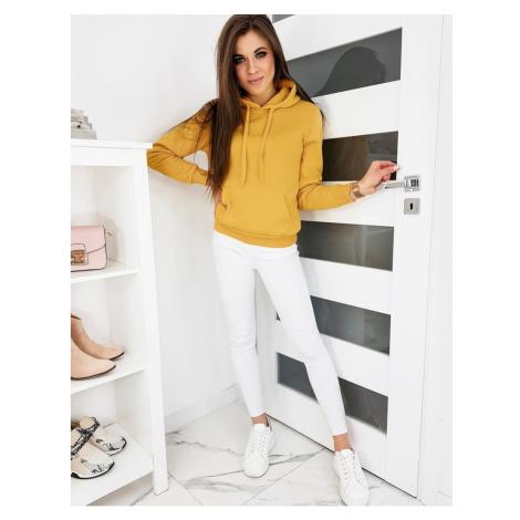 BASIC women's sweatshirt with a camel hood BY0560 DStreet