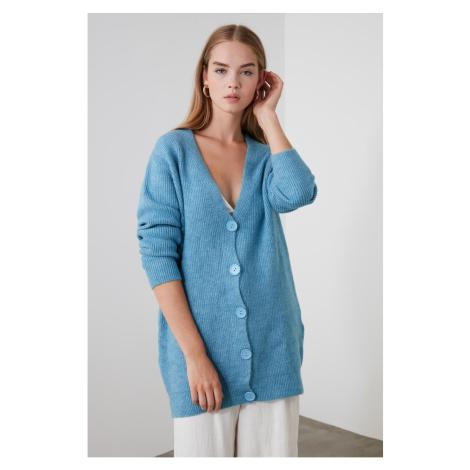 Trendyol Blue Button KnitWear Cardigan
