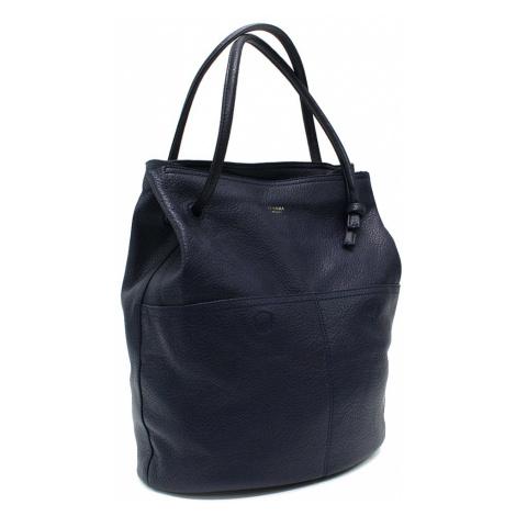 Tmavě modrá prostorná dámská kabelka ve tvaru vaku Lacyann Mahel