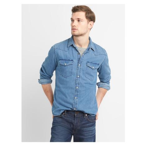 GAP Košile denim western shirt in slim fit