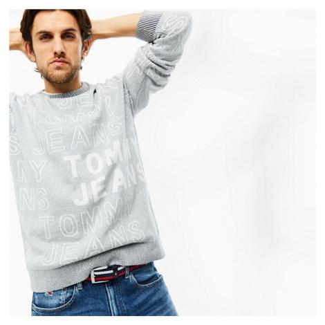 Tommy Jeans pánský šedý svetr