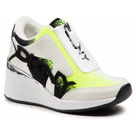 Sneakersy DKNY - Parlan Zip Up Wedge Sneaker K1122924 Omb Kn/Mt Tm Pu Neon Yellow/Black Yxu