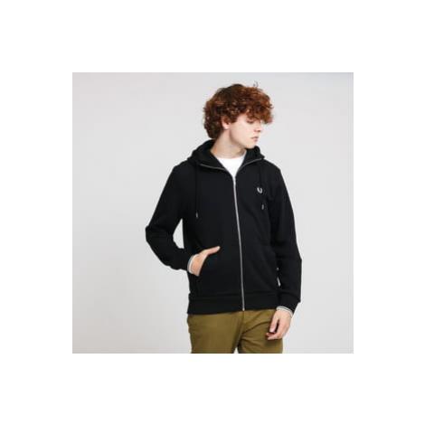 FRED PERRY Hooded Zip Trough Sweatshirt černá