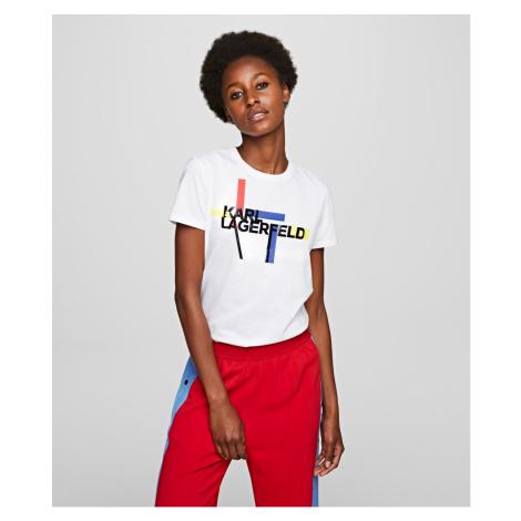 Tričko Karl Lagerfeld Bauhaus Logo T-Shirt - Bílá