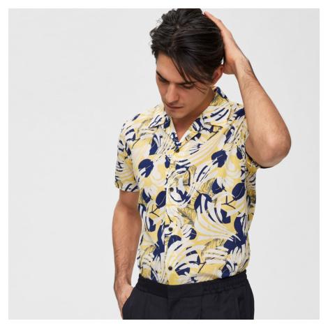 Žlutá vzorovaná košile Slim Tokyo Selected