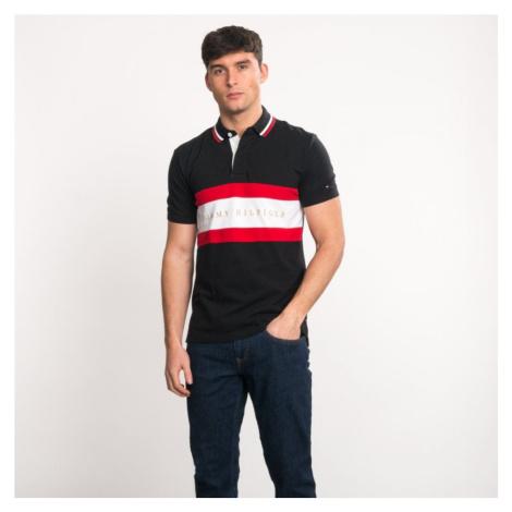 Tommy Hilfiger pánské černé polo tričko Iconic