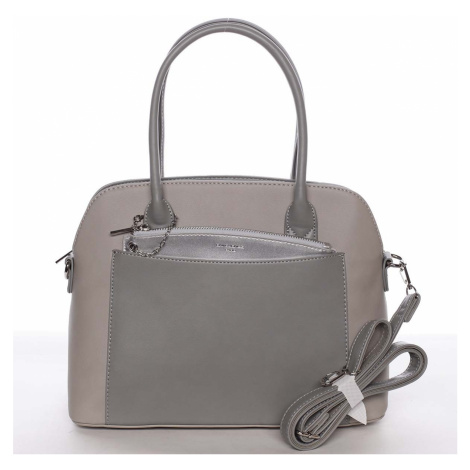 Exkluzivní dámská šedá zaoblená kabelka - David Jones Hiliery