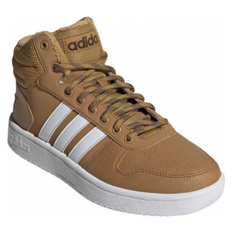adidas HOOPS 2.0 MID hnědá - Pánská volnočasová obuv