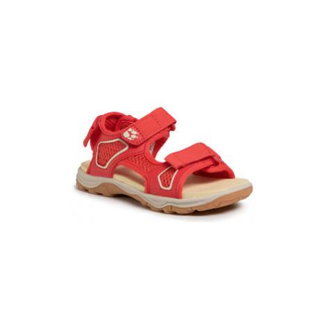 Jack Wolfskin Sandály Taraco Beach Sandal K 4039531 S Červená
