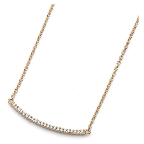 Oliver Weber Pozlacený stříbrný náhrdelník Step fine 61152G