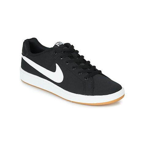Nike COURT ROYALE CANVAS Černá