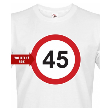 Pánské tričko k narozeninám se značkou a volitelným věkem BezvaTriko
