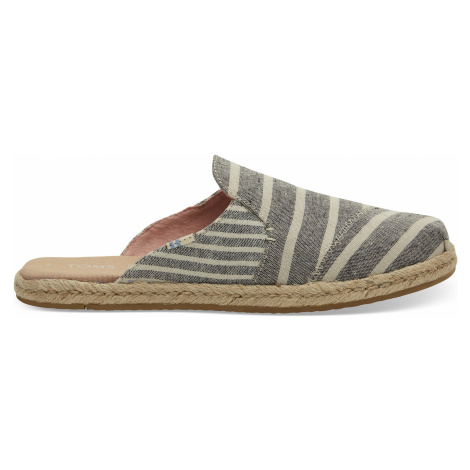 Black Cabana Stripes Women Nova Espadrile Toms