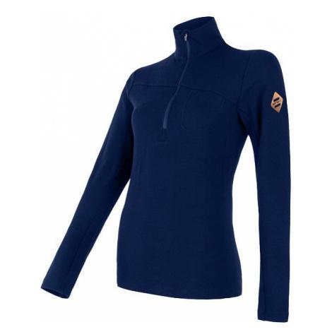 Dámské tričko SENSOR Merino Extreme dl. rukáv zip tm. modrá