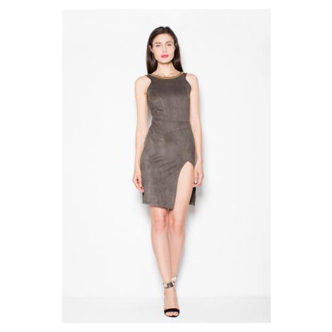 Unikátní šaty z příjemné semišového materiálu VT059 VENATION Venaton