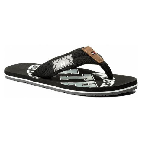 Žabky TOMMY HILFIGER - Essential Th Beach Sandal FM0FM01369 Black 990