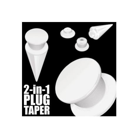 Taper a plug 2 v 1 bílý - Tloušťka : 5 mm Šperky eshop
