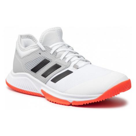 Pánská sálová obuv ADIDAS-Court Team Bounce ftwwht / cblack / solred Bílá