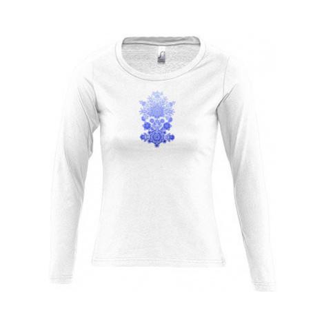 Dámské tričko dlouhý rukáv kulatý výstřih Folklorní motivy