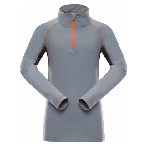 ALPINE PRO NEVEO 2 Dětské triko s dlouhým rukávem KTSK083343 neon pomeranč