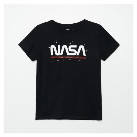 Cropp - Tričko s potiskem NASA - Černý