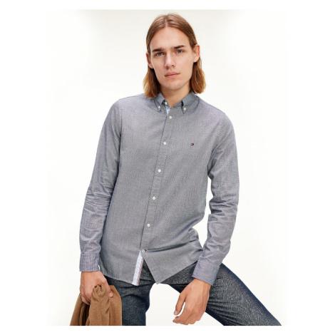Tommy Hilfiger pánská modrá košile Houndstooth