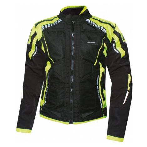 Pánská Textilní Moto Bunda Spark Athmos Černá-Fluo