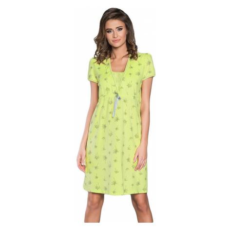 Italian Fashion Mateřská noční košile Madera limetková