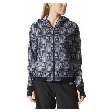 Dámská běžecká bunda adidas Run Graphic Jacket Černá / Bílá