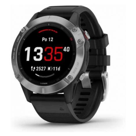 Sportovní smart GPS hodinky Garmin fénix 6 Silver/Black band