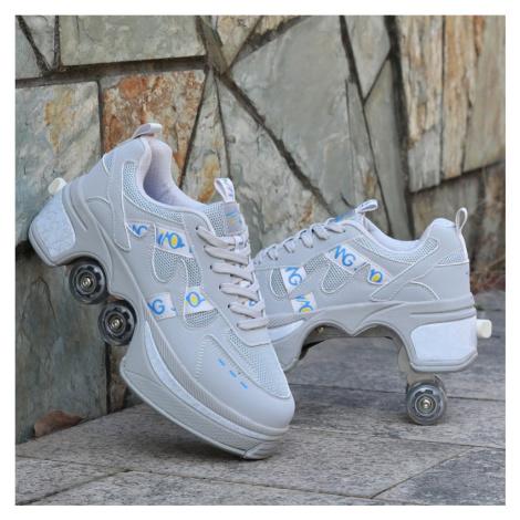 Kolečkové tenisky unisex barevné boty na kolečkách nejen pro děti