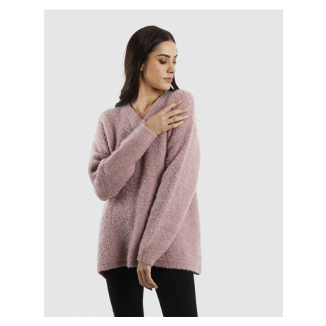 Svetr La Martina Woman Tricot Wool Blended Yarn - Růžová