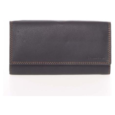 Dámská černá kožená prošívaná peněženka - SendiDesign Phoibe David Jones