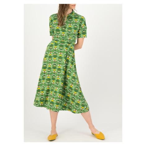 Midi udržitelné zelené šaty Blutsgeschwister