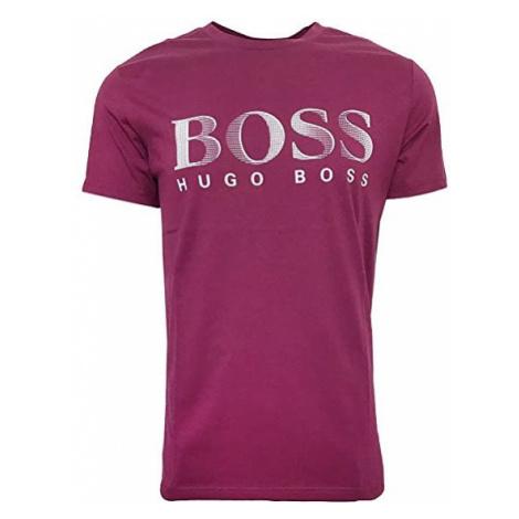 Hugo Boss Hugo Boss pánské fialové tričko UPF50+ s nápisem