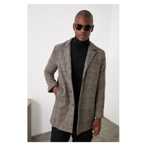 Pánský kabát Trendyol Plaid