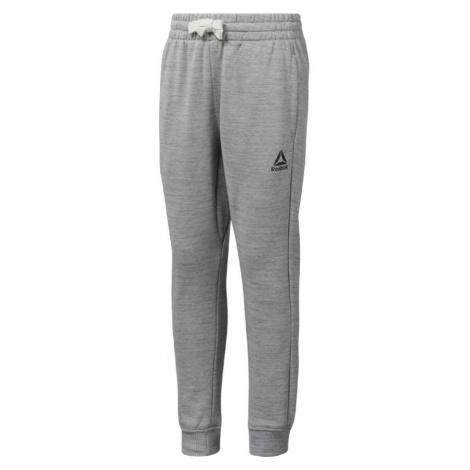 Reebok Elements dětské kalhoty šedé