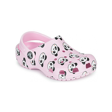 Crocs CLASSIC PANDA PRINT CLOG K Růžová