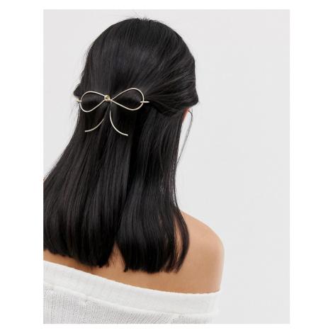 ASOS Bow Hair Stick-Gold