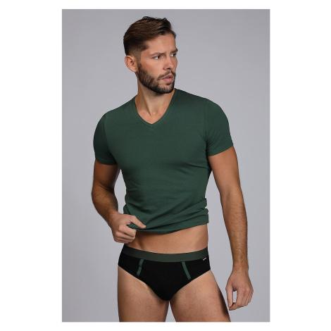 Pánský SET tričko a slipy Raw man zelené Cotonella